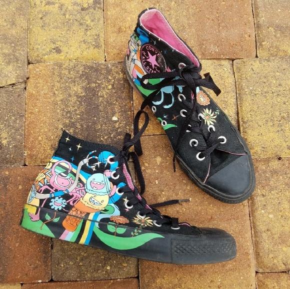 c6c25b09fb44 Converse Shoes - Converse Black Pastel Unicorn Cartoon High Tops ju
